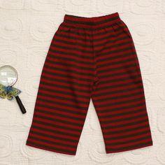 RED BROWN STRAIGHTEE PANTS