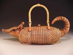 Armadillo Teapot by Christy Crews Dunn