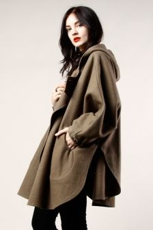 Heavily into capes and things that drape right now