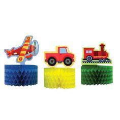 Airplane, Train, Truck, Sailboat Party Supplies MINI CENTERPIECE DECORATIONS