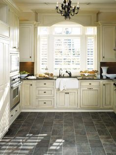 Short Term Kitchen Solution Slate Like Fiberfloor By Tarkett Color Steel