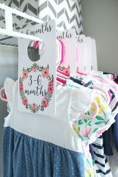 nursery closet dividers organization