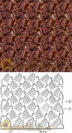 Granny Square Crochet Pattern, Crochet Borders, Crochet Diagram, Crochet Stitches Patterns, Doily Patterns, Crochet Chart, Crochet Motif, Crochet Lace, Stitch Patterns