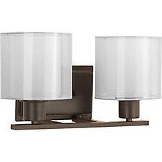 Progress Lighting Invite Collection 2-Light Antique Bronze Bath Light | The Home Depot Canada