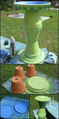 Is there any garden decor idea where clay pots can't come in handy? Here's another easy garden project with clay pots that not only you, but birds will love as well! See more artistic and creative examples of DIY clay pot bird baths on our site to get you inspired! :) http://diyprojects.ideas2live4.com/2015/11/19/turn-clay-flower-pots-into-a-brilliant-bird-bath/