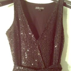 Sequin And Ruffles Dress