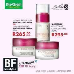 Save on the BioNike Defence Xage range, exclusive to Dis-Chem.  #DischemBeautyFair