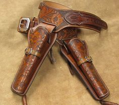 western leather holster belt