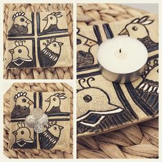 Square dish, birds on dish, trinket dish, candle holder, coin dish, home decoration ornament, pottery dish, ceramic dish, engraved dish, by RJPotteryshop on Etsy https://www.etsy.com/uk/listing/594938215/square-dish-birds-on-dish-trinket-dish