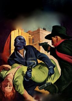 THE SHADOW PULP MAGAZINE COVER FOR BLUE FACE