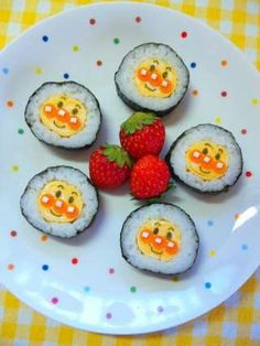 Happy cute cube sticky rice food yum pinterest for Anpanman cake decoration