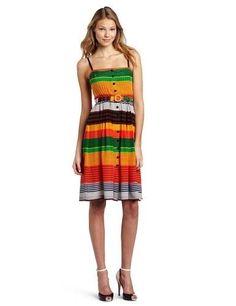 Plenty by Tracy Reese Pleated Banded Stripes Dress Sz XS/0 #PlentybyTracyReese #Sundress #Casual
