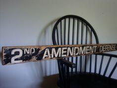 Rustic Distressed 2nd Amendment Defense Gun by TheUnpolishedBarn, $74.99 LOVE