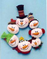 Snowman Ball wreath Pattern