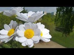 How to make FELT DAISY flowers. Ромашки из фетра - YouTube