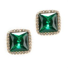 Anne Klein Pavé Frame Button Clip Earrings #VonMaur