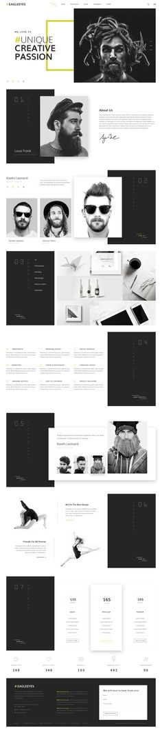 Saved by Inspirationde (inspirationde). Discover more of the best Web, Design, Eagleeyes, Creative, and Multipages inspiration on Designspiration Bootstrap Template, Joomla Templates, Web Layout, Layout Design, Branding, Book Design, App Design, Design Ideas, Simple Wordpress Themes