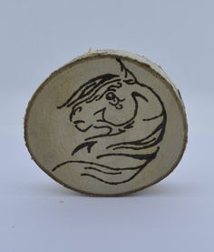 Wooden celtic coaster with a horse. For mug by ArchdeansMagicShop