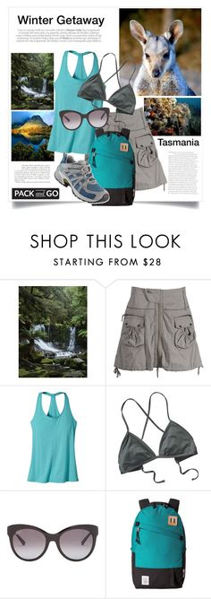 """""""Winter Getaway: Tasmania"""" by pumsiks ❤ liked on Polyvore featuring Ojai Clothing, Patagonia, Gucci, Topo Designs and L.L.Bean"""