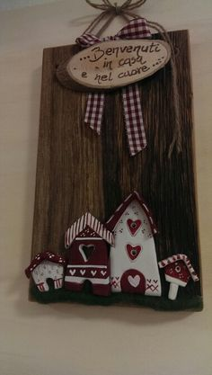 Painted Signs, Painted Rocks, Door Trims, Country Paintings, Mountain Homes, Air Dry Clay, Winter Time, Wood Signs, Decoupage