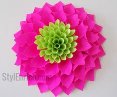 Indulge in making this easy paper craft as a fun craft and you will create a beautiful paper dahlia flower. Make it a part of your interior design…