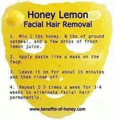 Honey facial hair remover