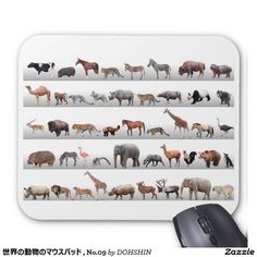 Mouse pad of animal of the world, No.09