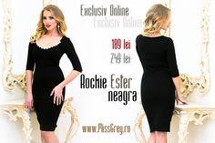 Shop online the elegant black dress and enjoy the super price: https://missgrey.ro/ro/produse-noi/rochie-ester-neagra/284?utm_campaign=colectie_februarie&utm_medium=esterneagra_postare&utm_source=pinterest_produs