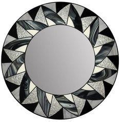 Miroir mosaïque en verre teinté