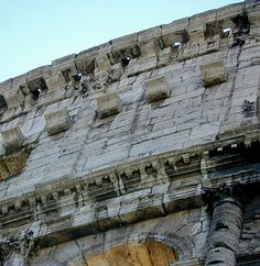 Here we can see the astounding workmanship that was put into every detail of the colosseum.