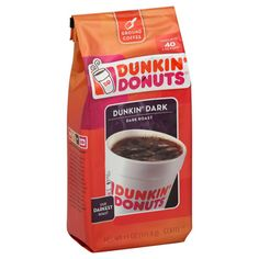 If you can't make it to a fancy coffee shop, this stuff is great. Of course, my favorite coffee is brewed by Sam in the lobby of our building but there are no pictures to pin :) Dunkin Donuts Coffee, Dark Roast, Coffee Shop, Brewing, Canning, My Favorite Things, Bottle, How To Make, Fancy