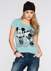 Shirt Z modnym disneyowskim nadrukiem Funny Prints, Disney Style, Mickey Mouse, Aqua, T Shirt, Disney Fashion, Fashion Styles, Water, Tee Shirt