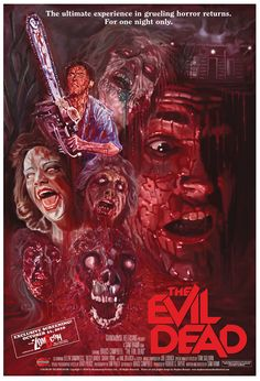 The Evil Dead (1981)  Directed by Sam Raimi. Classic horror film set in a creaky cabin in the woods, visited by a group of college friends who each become possessed after playing an audiotape that released demons. Full of thrilling moments and plenty of cackles! My Favourite film ever. - Meg
