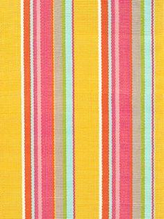 Dash and Albert Happy Yellow Stripe Indoor/Outdoor