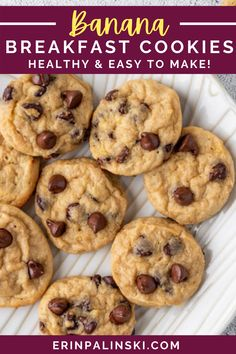 These breakfast cookies are healthy and easy to make! Only 64 calories and 8 net carbs per cookie! Each one also has 3 g of protein!