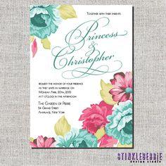 Floral Wedding Invitation  vintage by Stinkleberrie on Etsy, $1.75