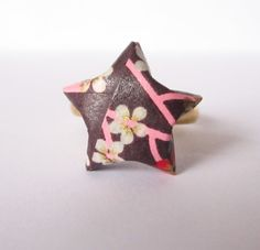 Bague étoile en origami par ichimo sur Etsy, €5.00