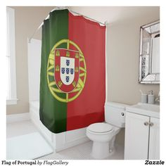 Shop Flag of Portugal Shower Curtain created by FlagGallery.