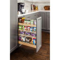Kitchen Redo, Kitchen And Bath, New Kitchen, Kitchen Remodel, Kitchen Without Pantry, Kitchen Pull Out Drawers, Kitchen Cabinet Organization, Kitchen Storage, Cabinet Organizers