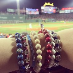 @tiffanyjazelle #Tiffanyjazelle #lesinterchangeables #mysaintmyhero @mysaintmyhero  #redsox #redsoxnation #boston #newengland #jewelry #bracelet #fashion