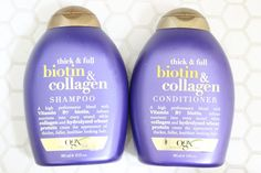 The Best Drugstore Shampoo & Conditioner | OGX Biotin & Collegen Shampoo & Conditioner