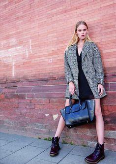 #ONLY #Oversized #Mantel / #VEROMODA #Kleid /  #PIECES #Tasche / #BRONX #Schnürstiefel