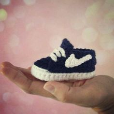 Crochet Nike Inspired Baby Booties free pattern