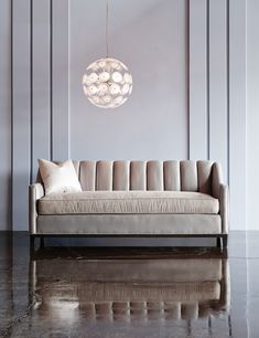 Luxury furniture | Neville Channel Back Sofa – The Neville Collection features clean, modern lines with elegantly sloping track arms, | www.bocadolobo.com/ #luxuryfurniture #designfurniture