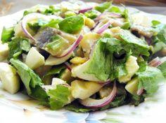 Это салат уникален тем, что нравится практически всем, плюс к этому готовится за десять минут...Этот салатик действительно имеет «отпадный» вкус – нежный и пикантный, так как в нем присутствует селедо…