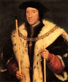 Thomas Howard, Duke of Norfolk. Uncle to Anne Boleyn. By Hans Holbein.