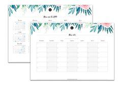 Planner 2019 para imprimir - Divirta-se Organizando Planners, Study Space, Life Skills, Diy And Crafts, Tropical, Bullet Journal, Notebook, Wallpaper, Drawings
