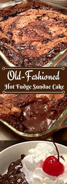 Old-Fashioned Hot Fudge Sundae Cake Today's tried & true is a fantastic oldie bu. Old-Fashioned Hot Fudge Sundae Cake Today's tried & true is a fantastic oldie but goodie recipe from Betty Crocker - Old. Chocolate Abuelita, Gooey Chocolate Cake, Chocolate Cobbler, Chocolate Caliente, Chocolate Desserts, Chocolate Pudding, Chocolate Art, Ina Garten Chocolate Cake, Chocolate Videos