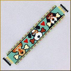 FETCH! Fun Dog Peyote Bracelet Pattern
