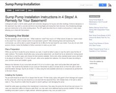 Sump Pump Installation Instructions in 4 Steps! A Remedy for Your Basement!